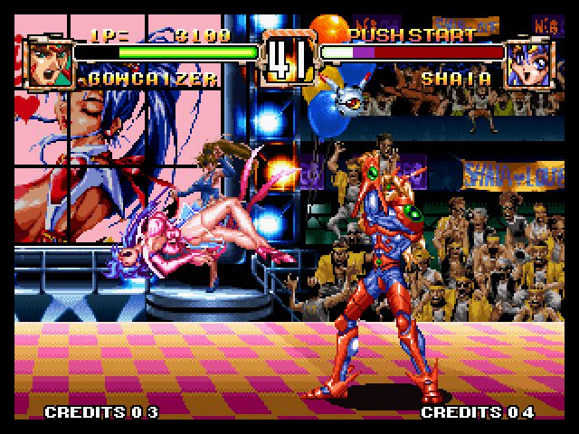 Voltage Fighter Gowcaizer 1995 By Technos Neo Geo Game