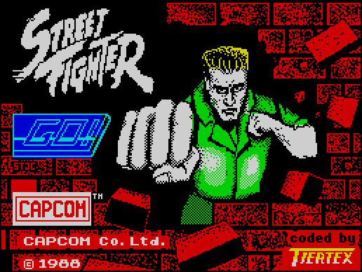 Street Fighter (1988) By Tiertex ZX Spectrum Game