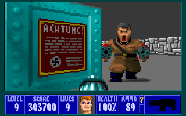 Wolfenstein 3d 1992 by id software ms dos game for Wolfenstein 3d