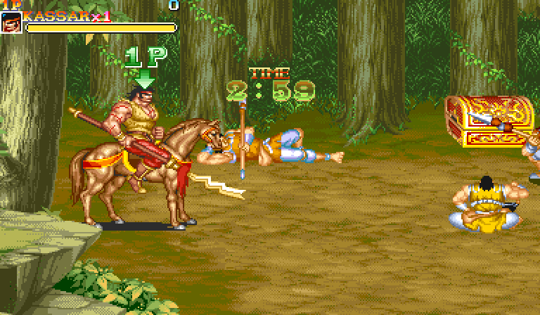 Warriors of Fate (1992) by Capcom Arcade game