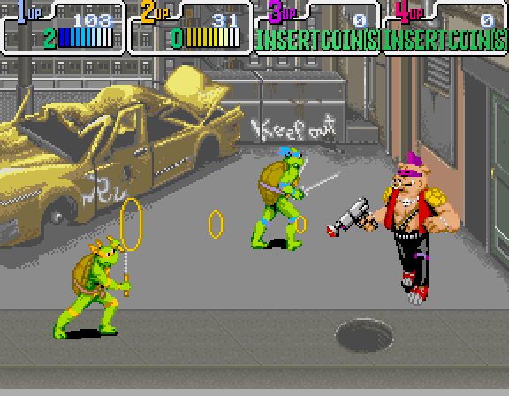 Teenage Mutant Ninja Turtles (1989) by Konami Arcade game