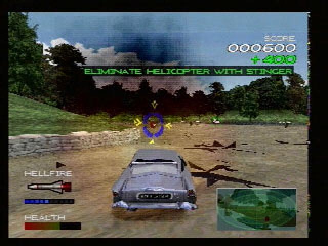 007 Racing Playstation 1-Bond destroçando inimigos em seu Aston Martin!