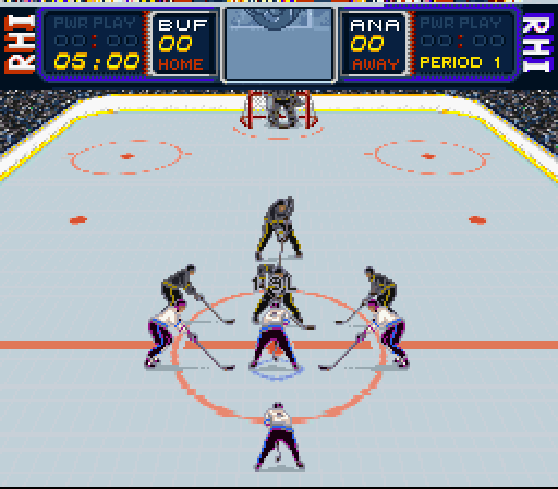 Rhi Roller Hockey 95 1995 By Snes Game