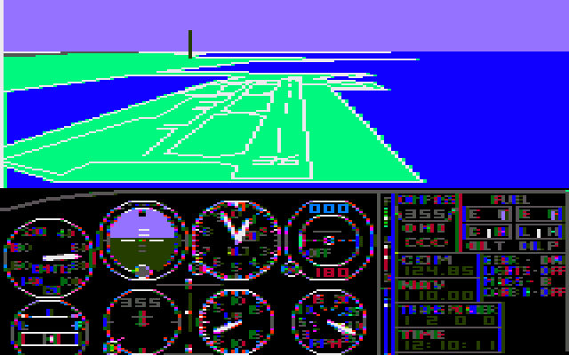 flight simulator dos