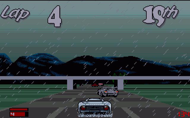 Jaguar XJ220 in-game screen.