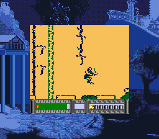 Hercules in-game screen.