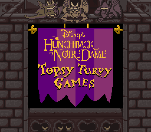 The Hunchback of Notre Dame: Topsy Turvy Games in-game screen