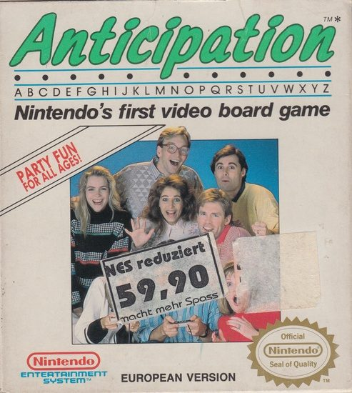 anticipation 1988 by rare nes game