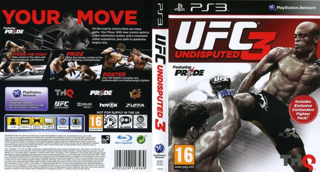 UFC Undisputed 3 (2012) by Yuke's PS3 game Ufc Undisputed 3 Ps3 Rom