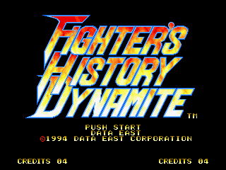 Fighter's History Dynamite  title screen image #1