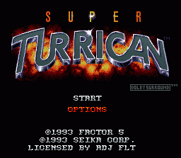 Super Turrican  title screen image #2