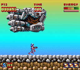 Super Turrican  in-game screen image #2