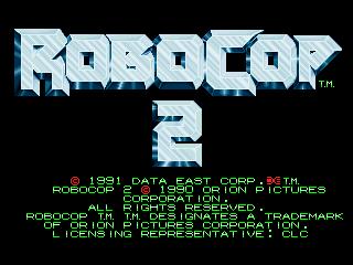 Robocop 2 title screen image #1
