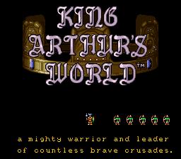 King Arthur's World  title screen image #1