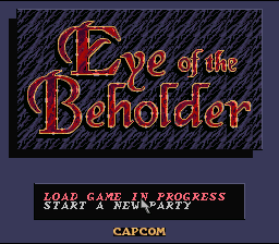 Eye of the Beholder  title screen image #1