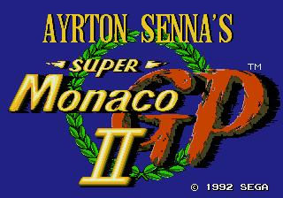 Ayrton Senna's Super Monaco GP II  title screen image #1