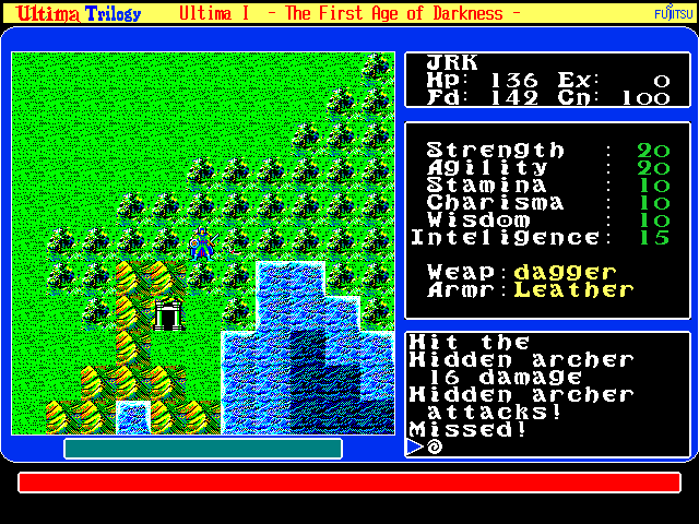 Ultima Trilogy in-game screen image #3