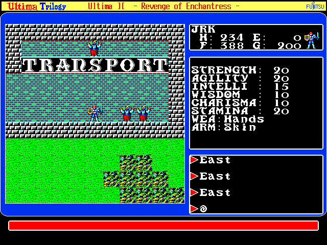 Ultima Trilogy in-game screen image #2 Ultima II: The Revenge of The Enchantress