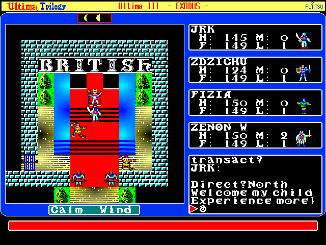 Ultima Trilogy in-game screen image #1 Ultima III: Exodus