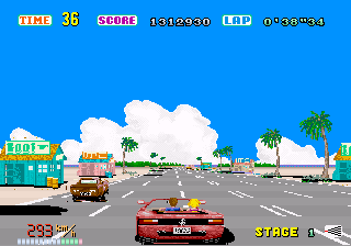 Out Run  in-game screen image #9