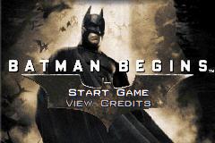 Batman Begins title screen image #1