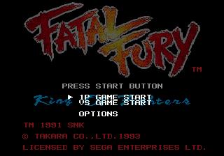 Fatal Fury  title screen image #1