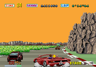 Out Run  in-game screen image #1