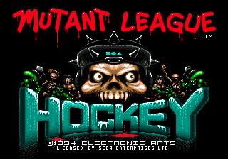 Mutant League Hockey title screen image #1