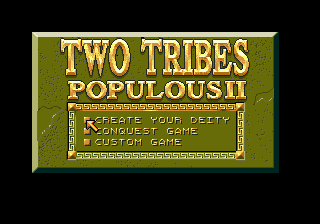 Populous II: Two Tribes title screen image #1