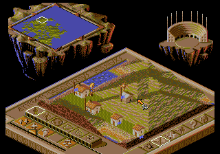 Populous II: Two Tribes in-game screen image #1