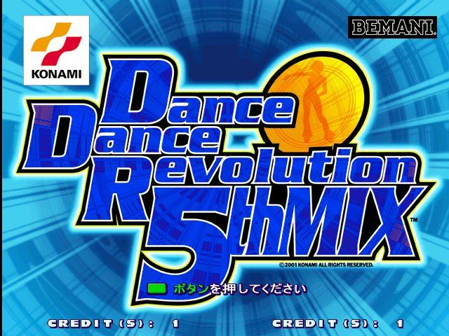 Dance Dance Revolution 5th Mix title screen image #1