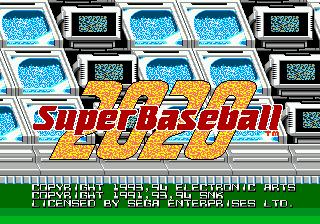 Super Baseball 2020  title screen image #1