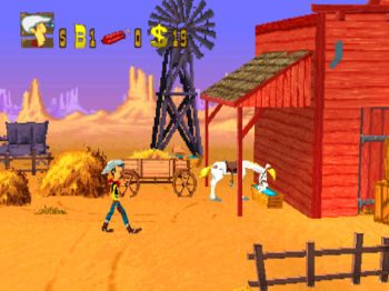 Lucky Luke in-game screen image #1
