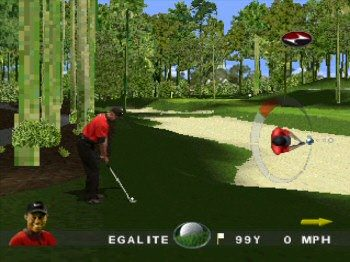 Tiger Woods 99 PGA Tour Golf in-game screen image #1
