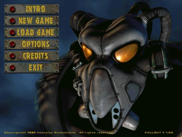 Fallout 2  title screen image #1 Main menu