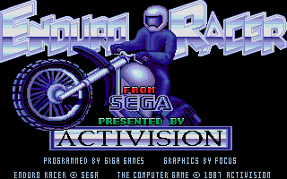 Enduro Racer title screen image #1