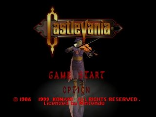 Castlevania  title screen image #1
