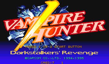 Vampire Hunter: Darkstalkers Revenge  title screen image #1