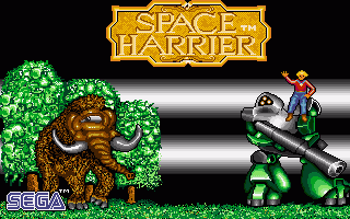 Space Harrier title screen image #1