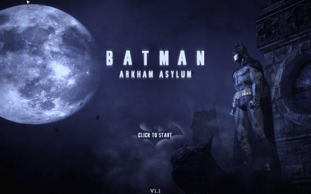 Batman: Arkham Asylum title screen image #1