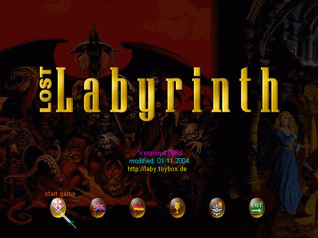 Lost Labyrinth title screen image #1