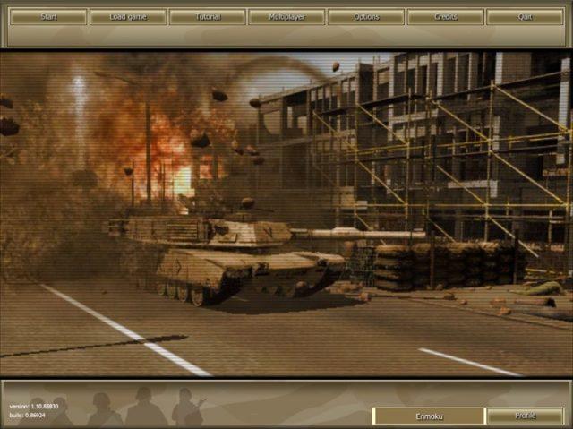 Joint Task Force  in-game screen image #1 Main menu