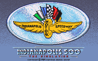 Indianapolis 500: The Simulation  title screen image #1