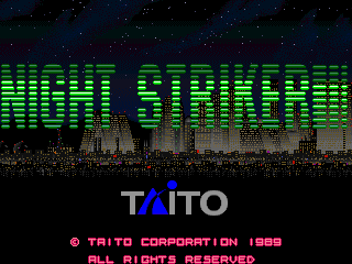 Night Striker title screen image #1