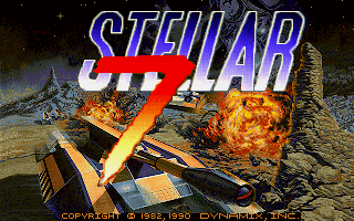 Stellar 7 title screen image #1