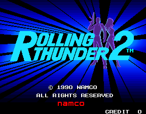 Rolling Thunder 2 title screen image #1