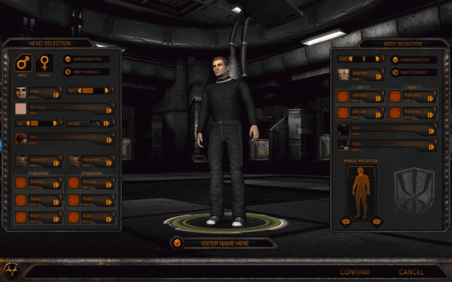 Fallen Earth  in-game screen image #1 Character creator