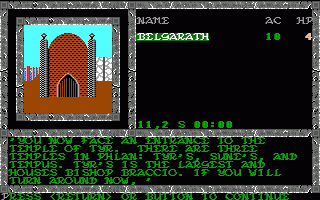 Pool of Radiance  in-game screen image #1