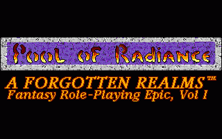 Pool of Radiance  title screen image #1
