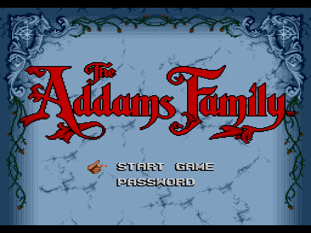 The Addams Family title screen image #1